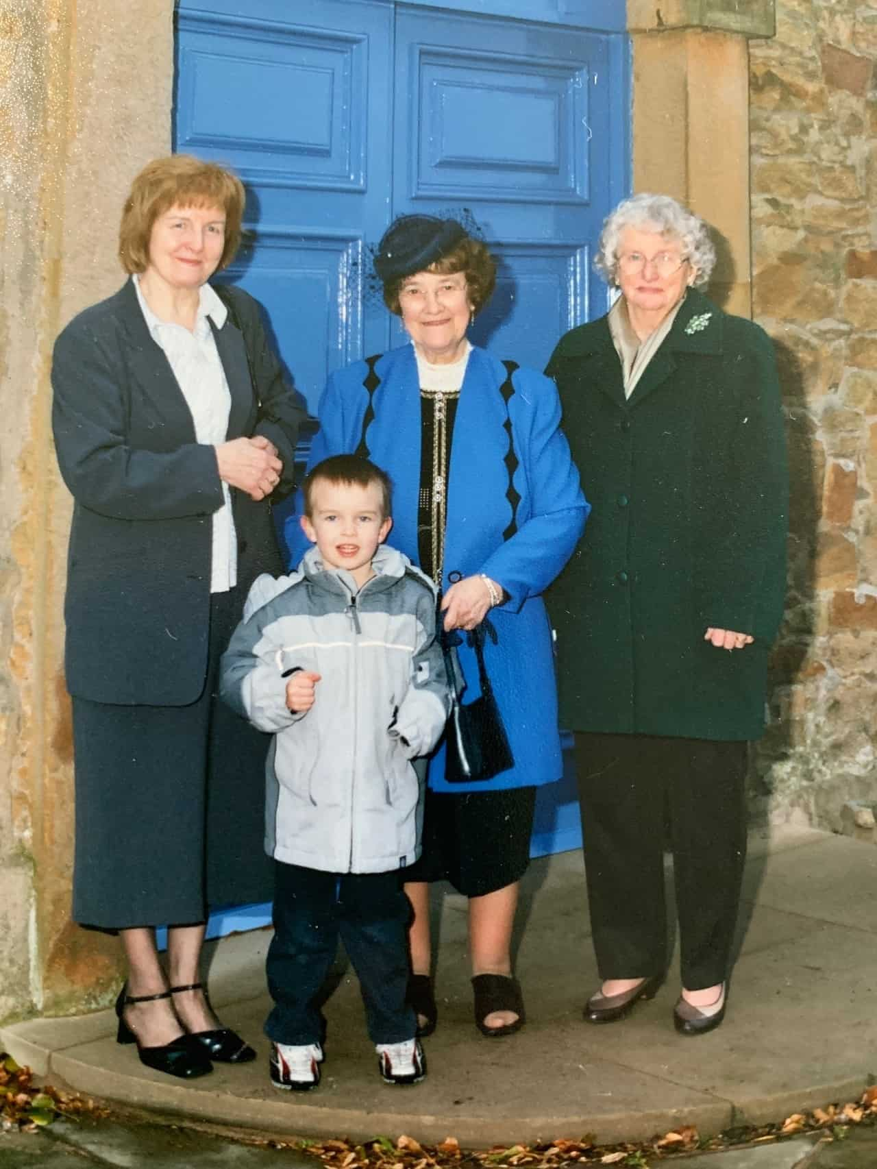 Cometan with his brother Kieran TaylCometan with his maternal grandmother, Hilda Warbrick (left), his paternal grandmother, Irene Taylor (centre), and his great aunt, Monica Bolton (right)orian in Spain