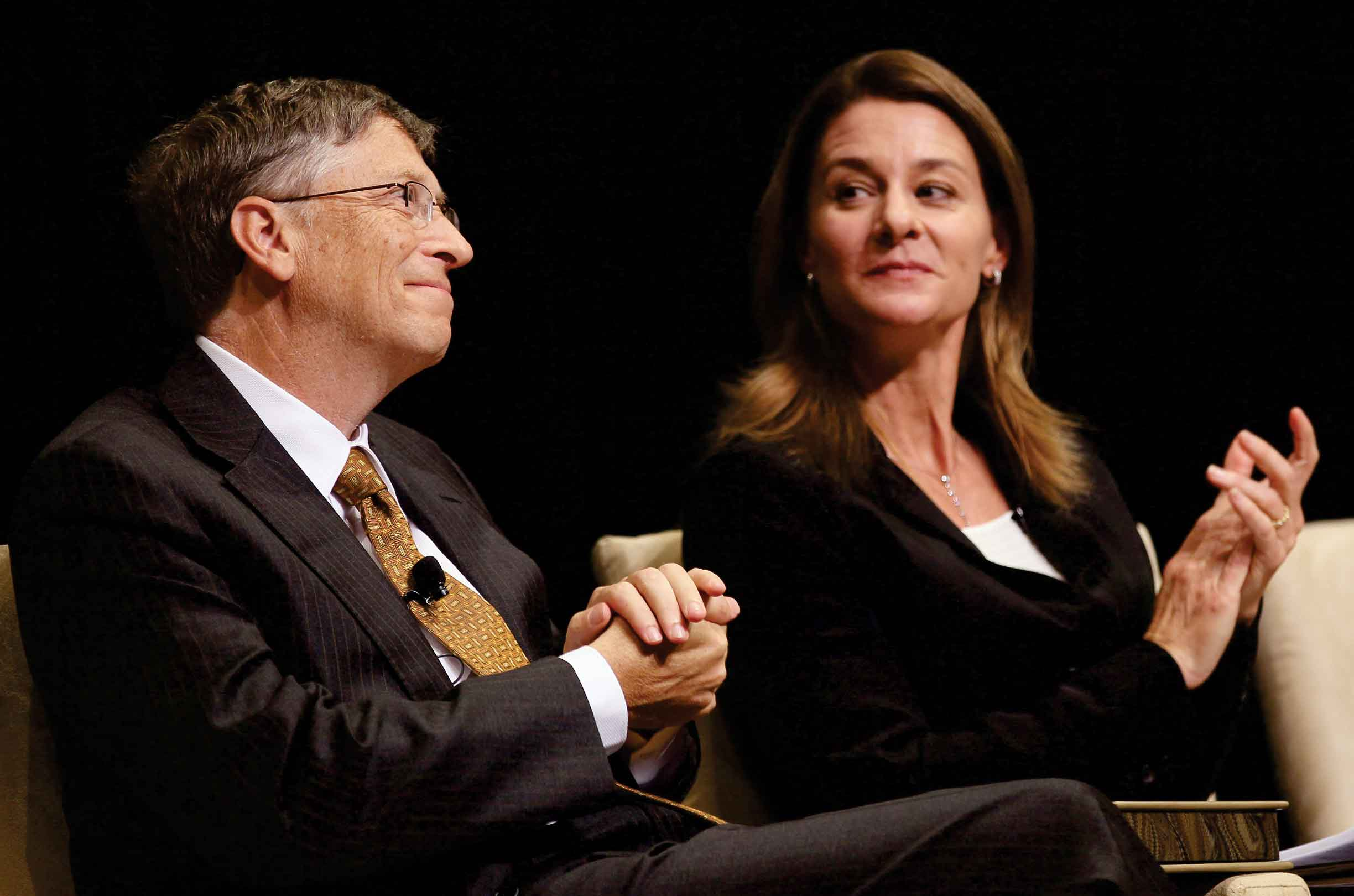 Bill with his wife Melinda Gates