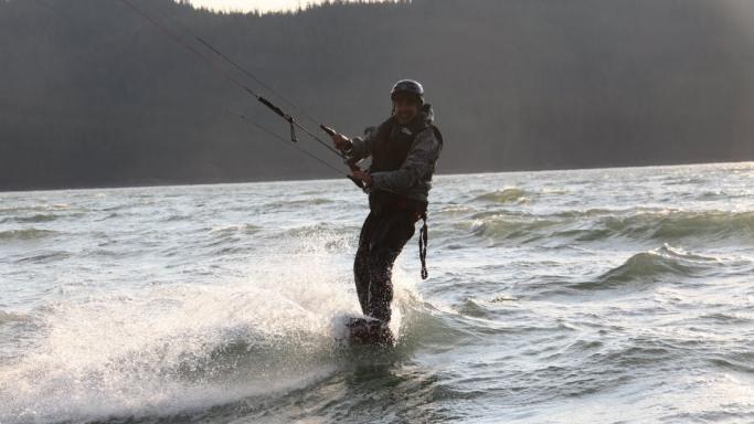 Larry Page while playing Kitesurfing